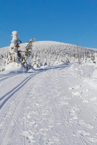 Сток-фото: зима · горные · пейзаж · декораций · крест · стране