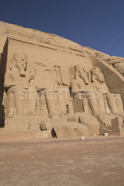 Abu Simbel Temple. Vertically. (Egypt) Stock photo © frank11