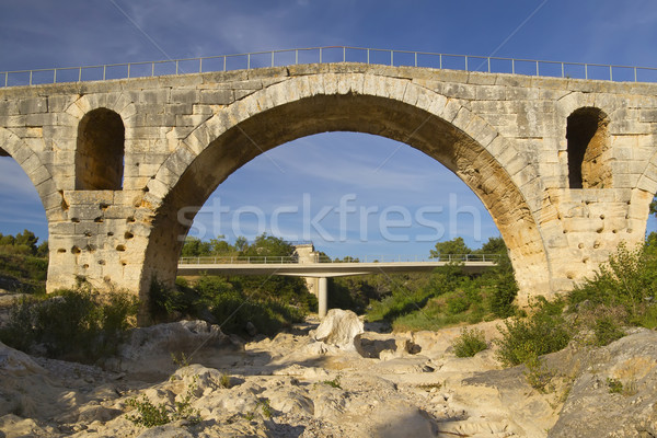 Francia original romana puente nuevos carretera Foto stock © frank11