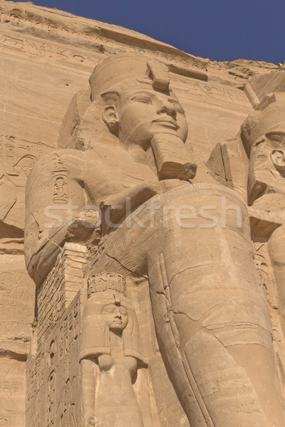 Sculpture of King Ramses II in Abu Simbel Temple Stock photo © frank11