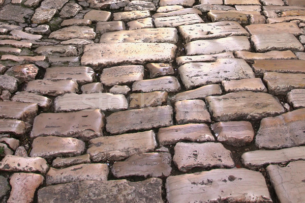 Medieval street paved with the cobble stones  Stock photo © frank11