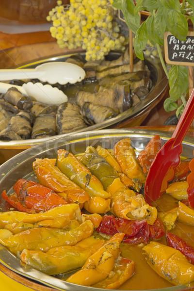 Pickled vegetable salad at market. Stock photo © frank11