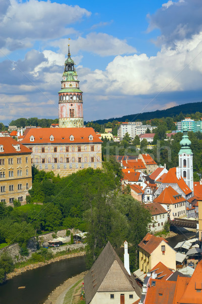 Chateau and the town of Cesky Krumlov (Czech Republic). Stock photo © frank11