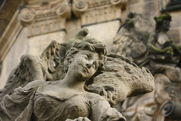Detailed view of the original Baroque sculpture  Stock photo © frank11