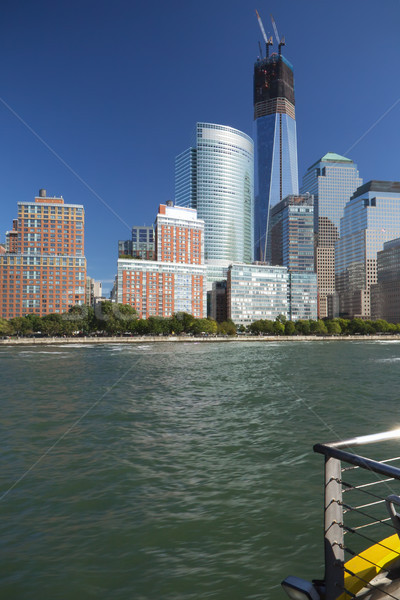 Ver bajar Manhattan barco Nueva York Foto stock © frank11