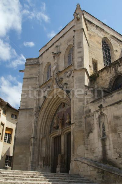 Сток-фото: древних · Церкви · Франция · святой · лет · синий