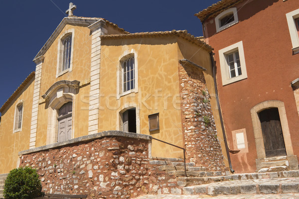 Church in village of Roussillon (Provence , France) Stock photo © frank11