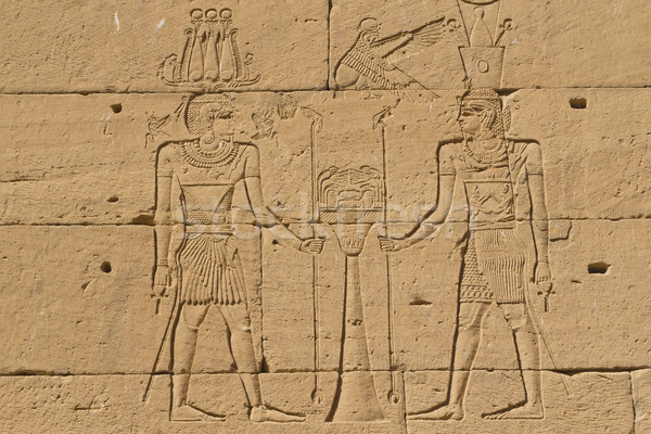 Ancient Egyptian writing on stone  Stock photo © frank11
