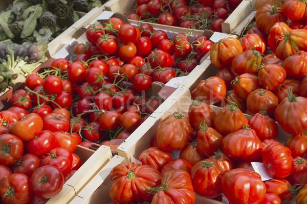 Paradicsomok piac különböző kész vásár gazdák Stock fotó © frank11