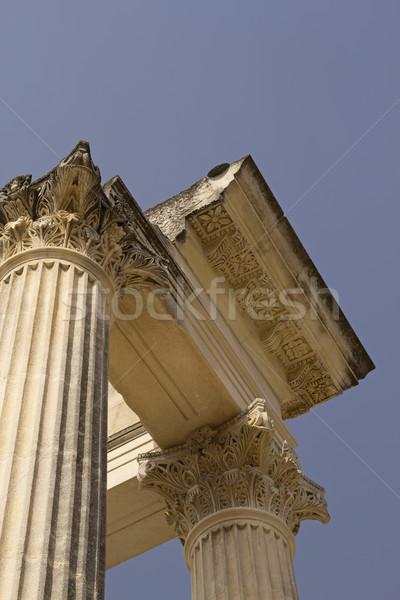 Roman pillars in Glanum.. France. Stock photo © frank11
