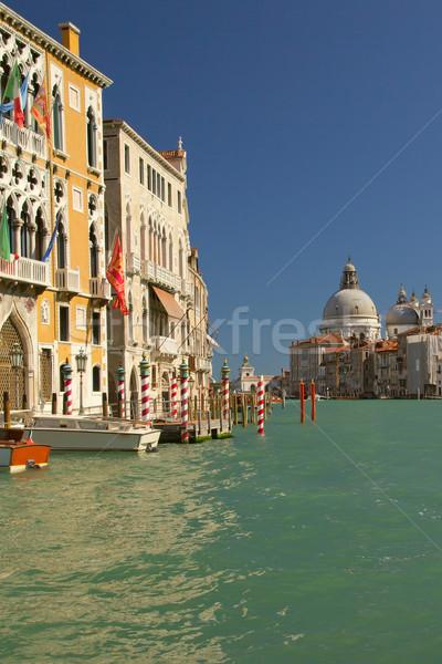 Canal Grande with Basilica Santa Maria della Salute.(Italy) Stock photo © frank11