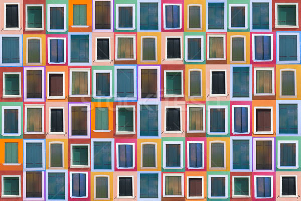 Set of 78 color windows as a background Stock photo © frank11