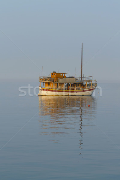 Lonely traditional sailboat  Stock photo © frank11