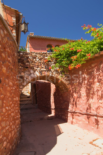 Alley with arches. (Roussillon, Provence, France) Stock photo © frank11