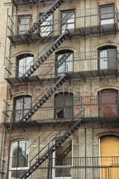 Old building with outdoor staircase Stock photo © frank11
