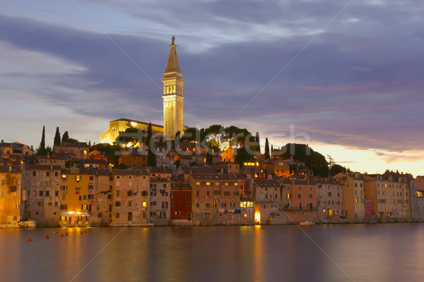 The old town Rovinj at night (Croatia, Europe) Stock photo © frank11