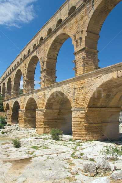 Stock photo: General view of the Pont du Gard (France)