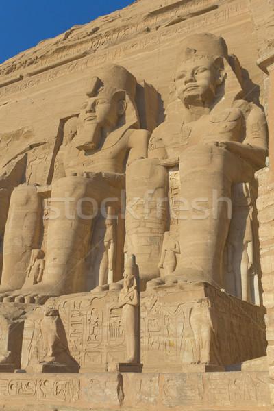 Tapınak Mısır kral kraliçe Bina çöl Stok fotoğraf © frank11