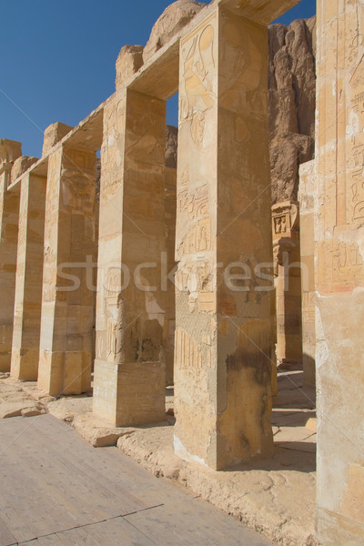 The chapel of the goddess Hathor in the Temple of Queen Hatsheps Stock photo © frank11