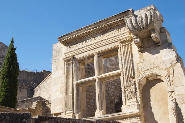 Ancient stone window Stock photo © frank11