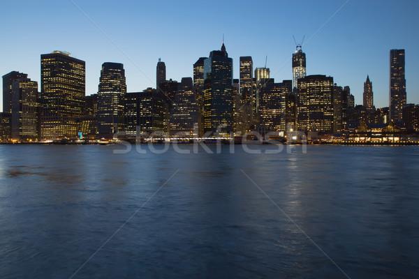 Lower Manhattan after sunset.  Stock photo © frank11