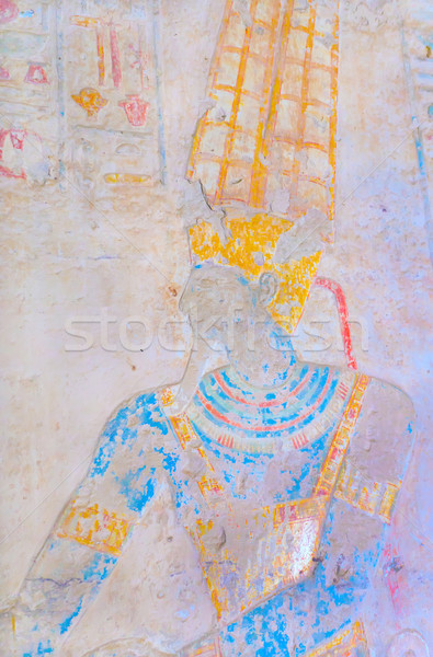 Ancient Egyptian King Ramses II  in carved wall. Stock photo © frank11