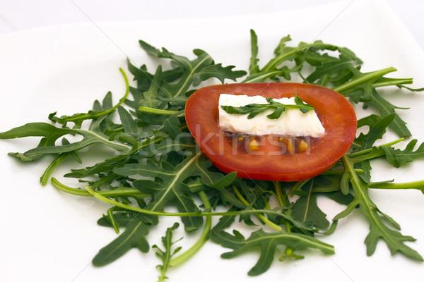 Tomato, cheese and rocket salad. Stock photo © frank11