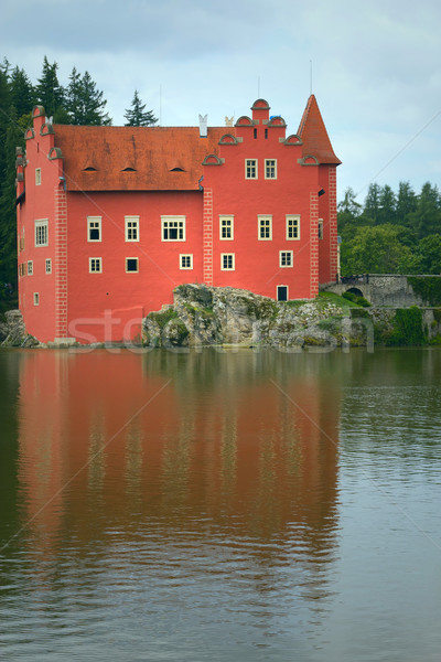 The red Chateau Cervena Lhota (Czech Republic, Eastern Europe)  Stock photo © frank11