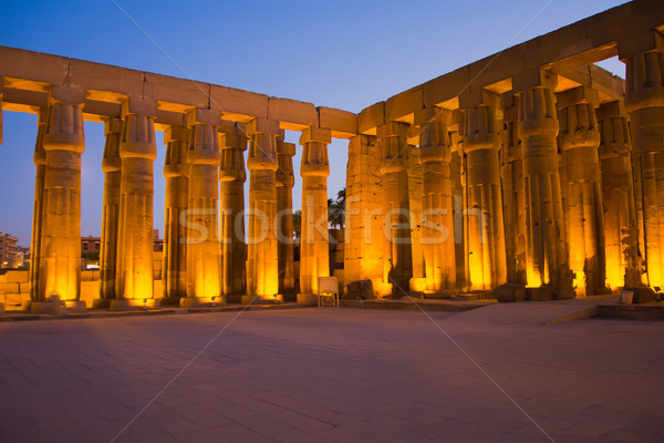 Luxor temple at night. (Luxor, Thebes, Egypt)  Stock photo © frank11