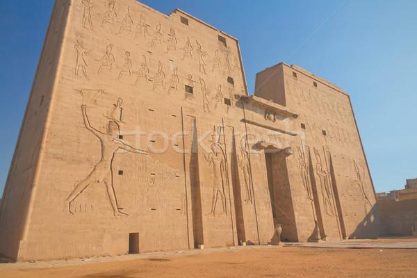 вход храма Египет египетский дизайна искусства Сток-фото © frank11