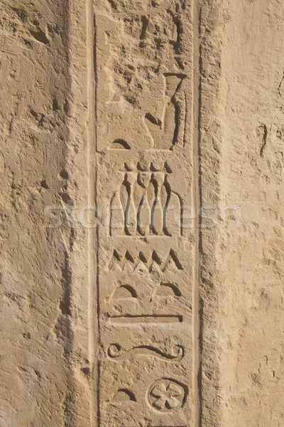 Old egypt hieroglyphs carved on the stone  Stock photo © frank11