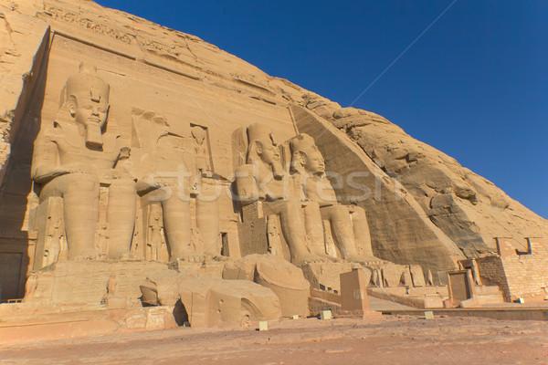 Templom Egyiptom király művészetek épületek öreg Stock fotó © frank11