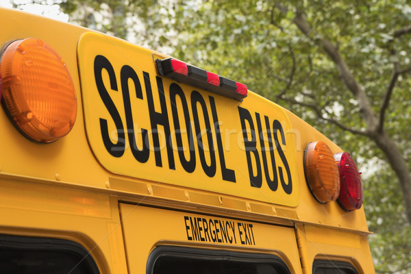 Back of school bus with a sign  Stock photo © frank11