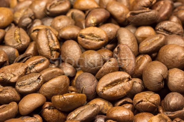 Granos de café vista macro textura alimentos café Foto stock © frank11