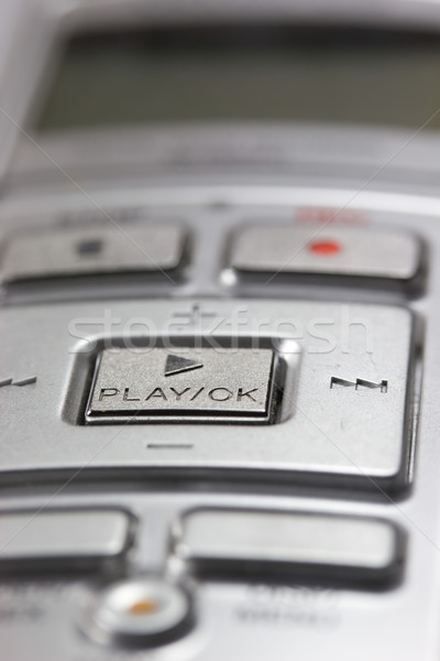 Detailed view of the digital voice recorder. Stock photo © frank11