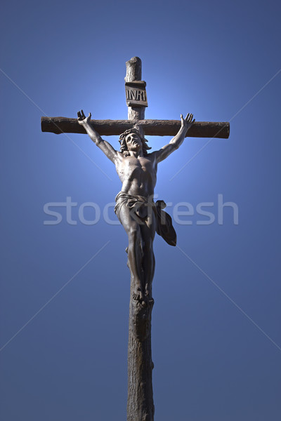 Statue jesus christ croix ciel bleu Photo stock © frank11