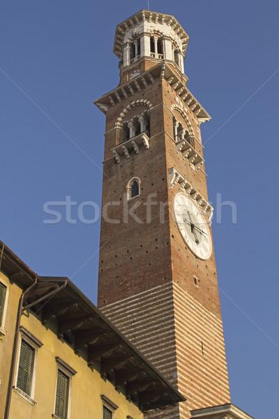 Verona Itália alto torre edifício paisagem Foto stock © frank11