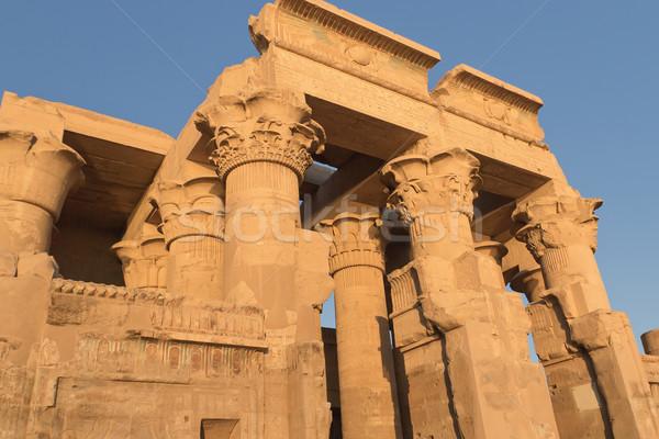 Temple of Kom Ombo in sunset light (Kom Ombo, Egypt ) Stock photo © frank11
