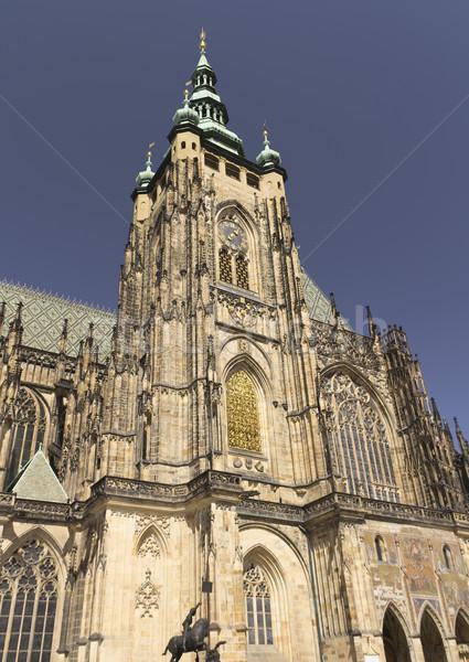 St. Vitus gothic cathedral (Prague, Czech Republic) Stock photo © frank11