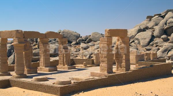 храма Египет дома Выделенный здании путешествия Сток-фото © frank11