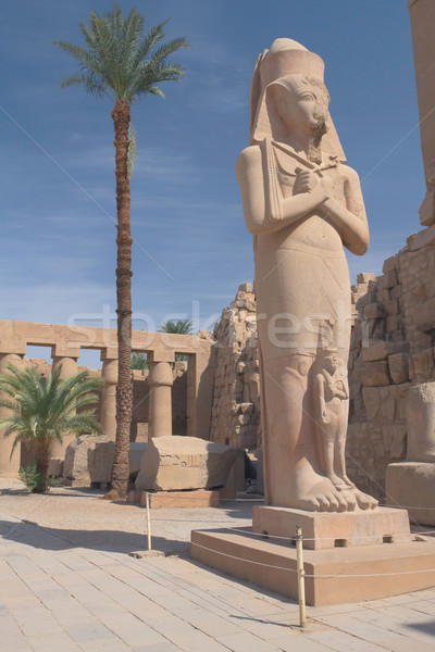 The most famous statue in the Temple Luxor (Egypt) Stock photo © frank11