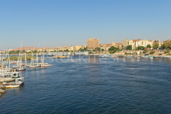 The city of Aswan, the gateway to Nubia (Egypt) Stock photo © frank11