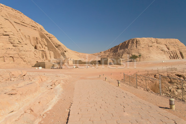 General view at the Abu Simbel Temple and Nefertari Temple (Nubi Stock photo © frank11