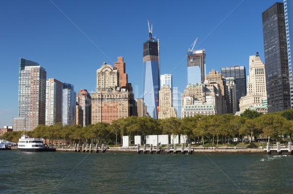 снизить Manhattan батареи парка башня Свободы Нью-Йорк Сток-фото © frank11
