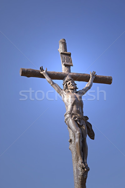 Statue of Jesus Christ on a cross  Stock photo © frank11