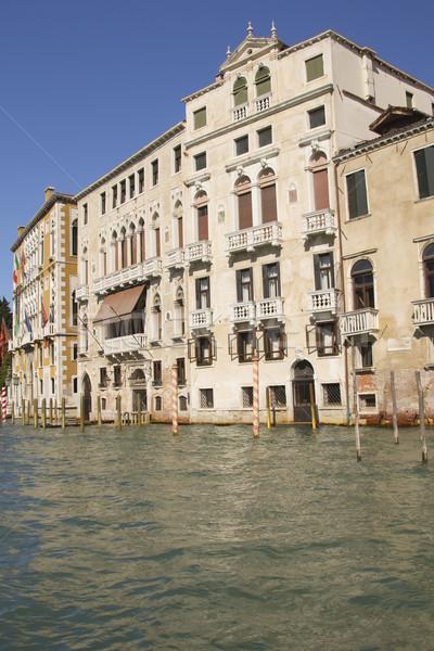 Kanal Venedik İtalya görmek gökyüzü ev Stok fotoğraf © frank11