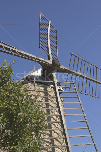 Ancient stone windmill (Vertically) Stock photo © frank11