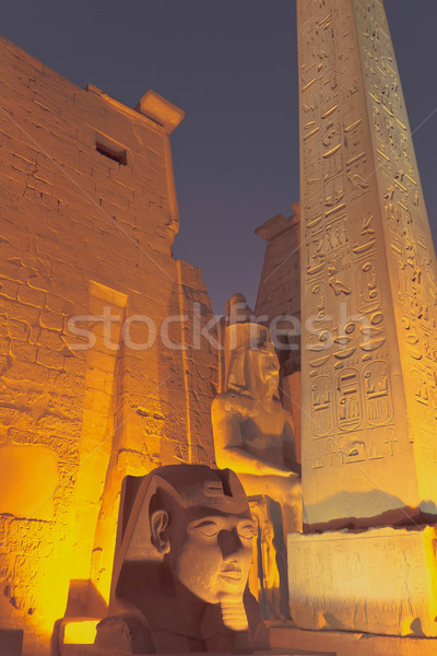 The entrance to the Luxor Temple at night (Egypt) Stock photo © frank11