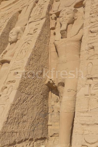 świątyni Egipt budynku pustyni architektury posąg Zdjęcia stock © frank11