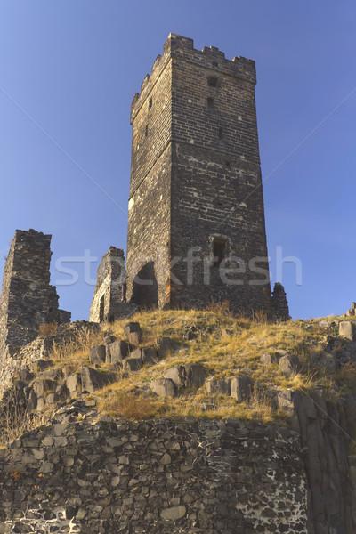 разорение замок Чешская республика базальт рок здании Сток-фото © frank11